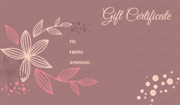 Flora Gift Certificate Template