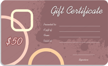 Purple Watercolor Splashes Gift Certificate Template