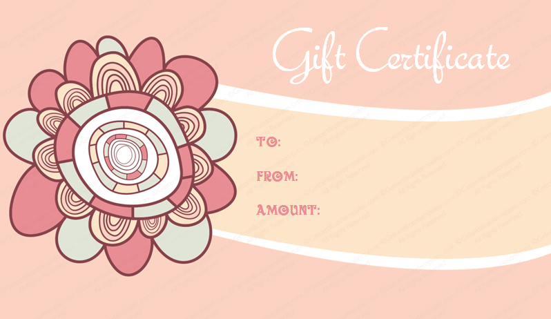 simple artistic gift certificate template