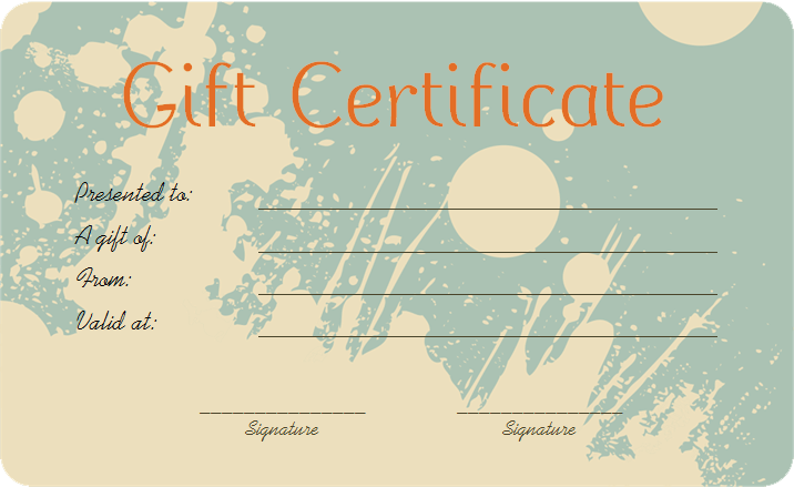 Flower Gift Certificate Template