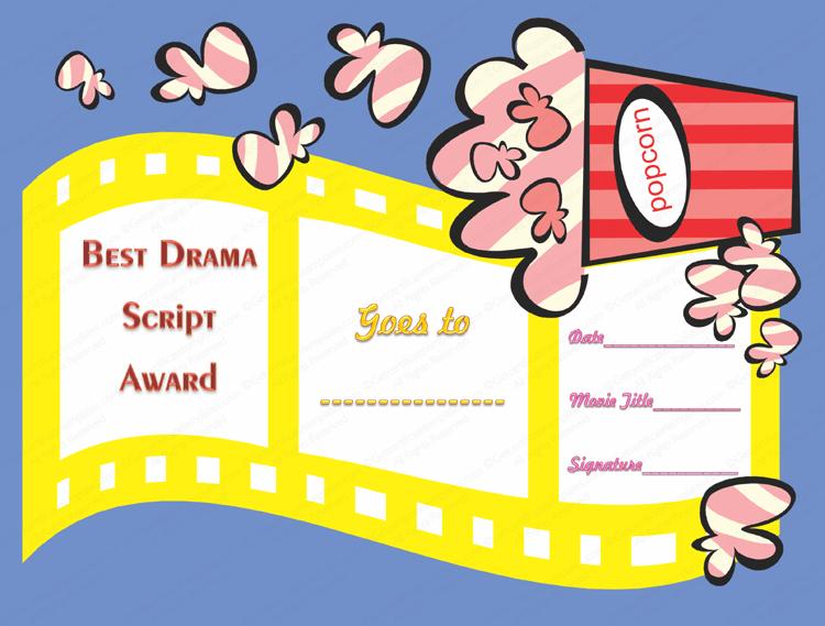 Best Drama Script Award Certificate Template
