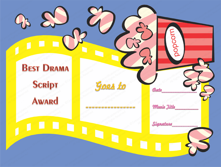 Drama script award certificate template best drama script award certificate template yelopaper Image collections