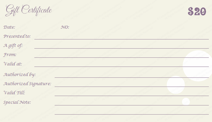 Floral-Bubble-Gift-Certificate-Template-Back