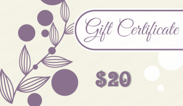 Floral Bubble Gift Certificate Template
