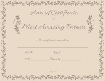 Best father award certificate template most amazing parents award certificate template yadclub Gallery