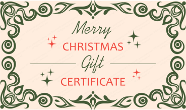 79's Christmas Gift Certificate Template