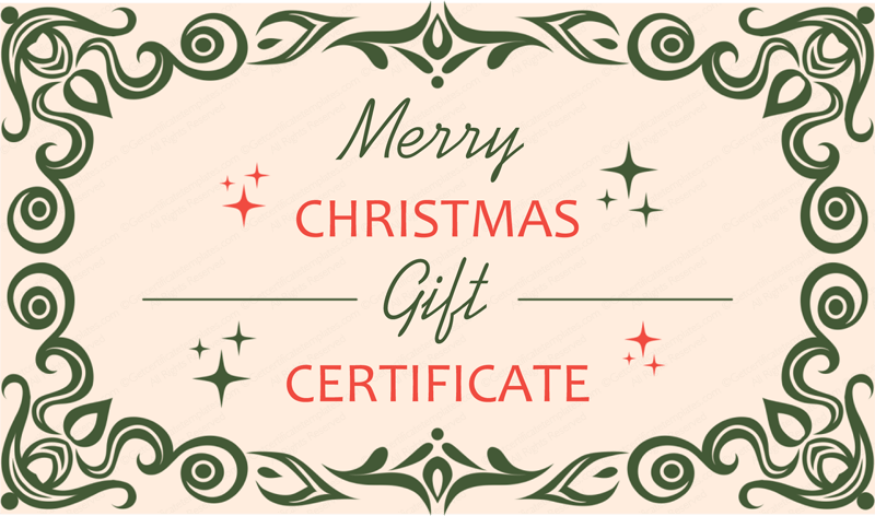 79 39 s christmas gift certificate template. Black Bedroom Furniture Sets. Home Design Ideas