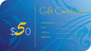 Blue Waves Gift Certificate Template