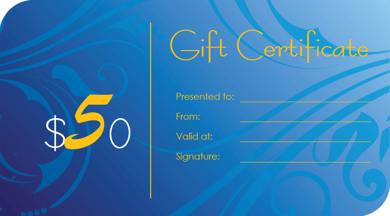 Gift Certificate Template, gift card template word