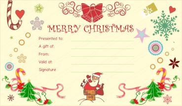 Christmas Fun Gift Certificate Template