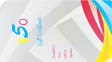 Cool Curves Gift Certificate Template