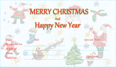 Duel Festive Christmas Gift Certificate Template