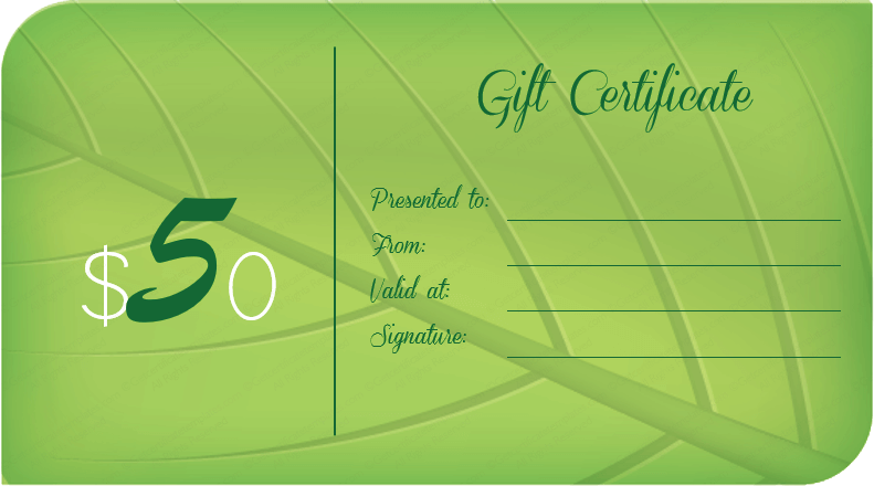 Ever Green Gift Certificate Template