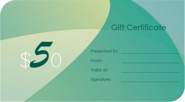 Flashy Hues Gift Certificate Template