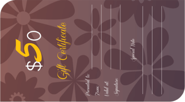 Floral Elegance Gift Certificate Template