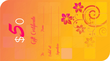 Funky Orange Gift Certificate Template