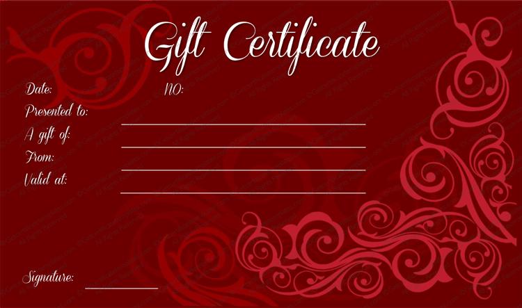 Swirls gift certificate template mahroon swirls gift certificate template yadclub Gallery