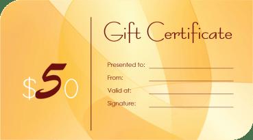 Orien Gift Certificate Template