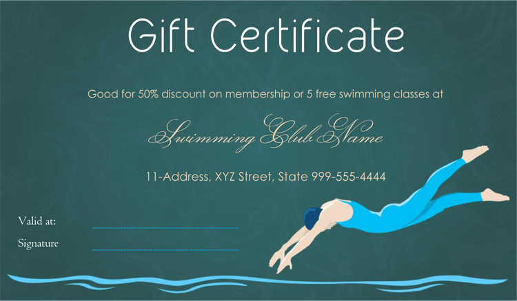 Swimming certificate template yadclub Gallery