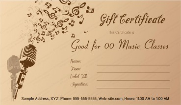 Gift certificate templates for word easy to customize print music menia gift certificate template yelopaper Choice Image