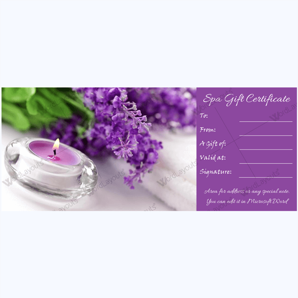 Spa-Card-Template