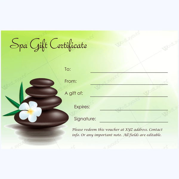 free printable hair salon gift certificate template - bring in clients with spa gift certificate templates