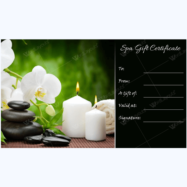 Bring in clients with spa gift certificate templates for Spa gifi