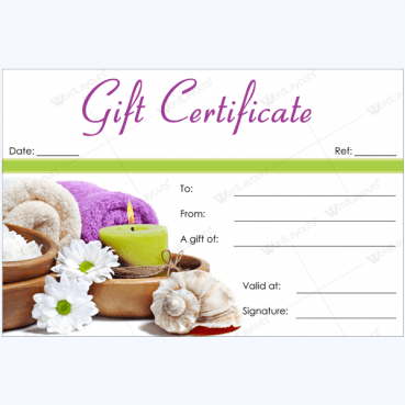 Spa gift certificate templates certificate templates for Free printable hair salon gift certificate template