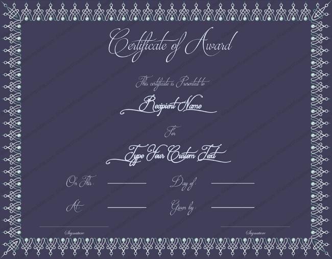 Universal Award Certificate Template
