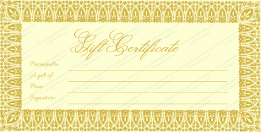 Gold Graphy Gift Certificate Template