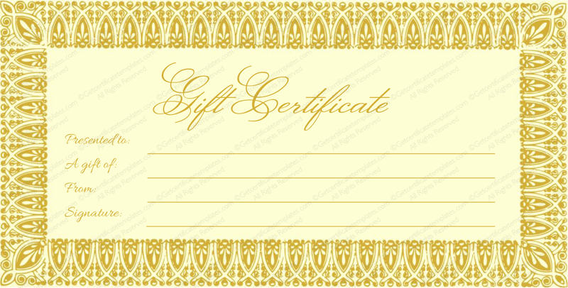 Massage Gift Certificate Template Free Download Gallery Template