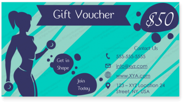 Get in Shape Gift Certificate Template