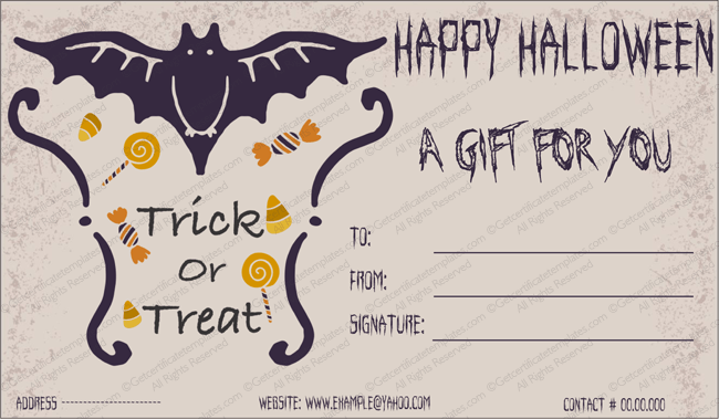 Halloween gift gift template 2 create halloween certificates free blank halloween gift certificate template yadclub Image collections