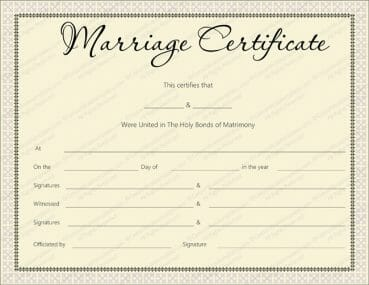 Pink Delight Marriage Certificate Design