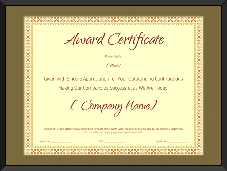Award on Retirement Certificate Template - Editable and ...