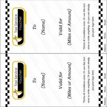 Taxi Service Gift Voucher Template
