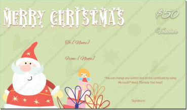 editable christmas gift template word