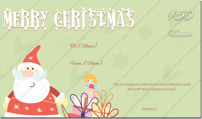 Gift Template - A Trio of Cheery Santa's Wish You a Merry ...