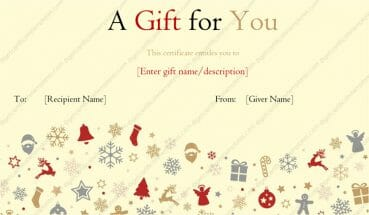 Christmas theme gift template for word