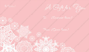Artistic Flakes Christmas Gift Certificate Template