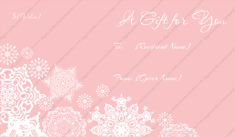 Christmas Gift Certificate Templates – Christmas Gift Card Template