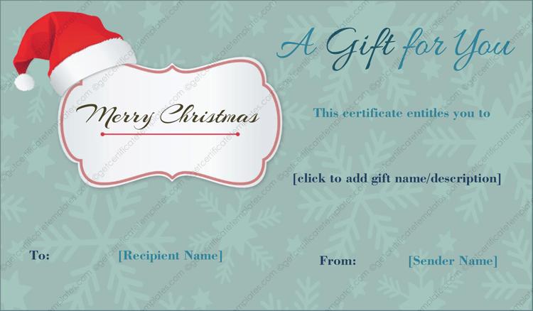 Christmas Cap Gift Template