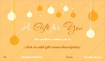 Christmas Hangings Gift Template