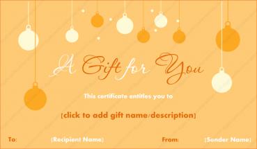 Christmas Hangings Gift Template