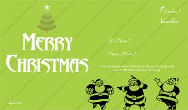 Christmas gift template
