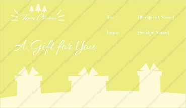Christmas Hampers Gift Template