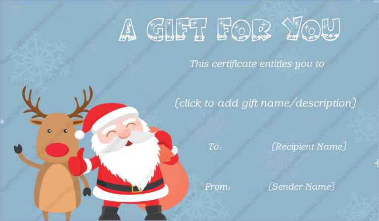 gift from santa gift template