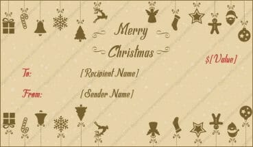 Gift certificate templates for Christmas