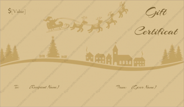 Santa Sleigh Ride Christmas Gift Certificate Template