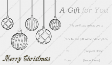 Sketch Christmas Gift Template